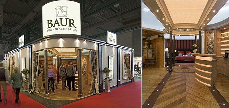 baur at trade fairs baur wohnfaszination. Black Bedroom Furniture Sets. Home Design Ideas