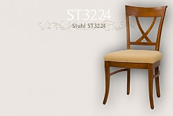 upholstered chair in solid wood