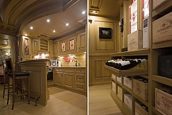 Solid wood wine cellar