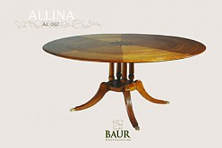 round table in solid wood