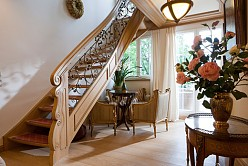 Interior decoration of the entrance in high class country house style