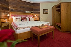 Hotel room interior in country house style