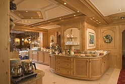 Buffet interior in country house style
