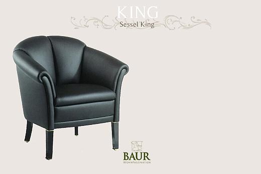 armchair in leather baur wohnfaszination. Black Bedroom Furniture Sets. Home Design Ideas