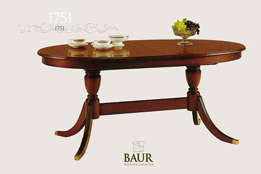 dining room table in solid wood baur wohnfaszination. Black Bedroom Furniture Sets. Home Design Ideas