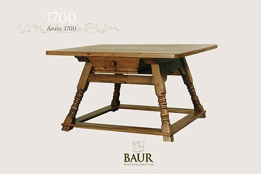 jogl table in solid wood baur wohnfaszination. Black Bedroom Furniture Sets. Home Design Ideas