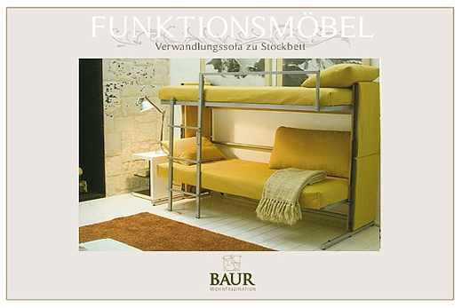 bunk bed baur wohnfaszination. Black Bedroom Furniture Sets. Home Design Ideas