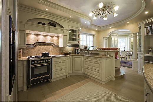 Solid wood country house kitchen
